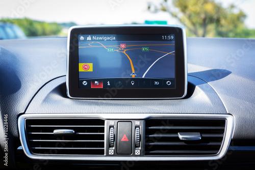 Fotografie, Obraz  Navigation device in the car