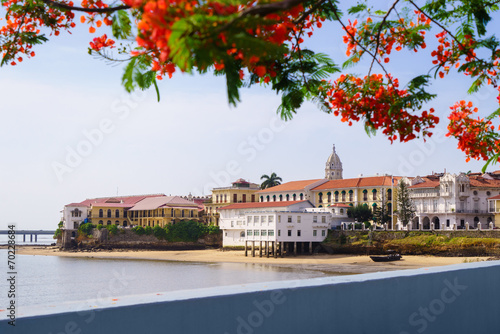 Photo Panama City view old casco viejo antiguo