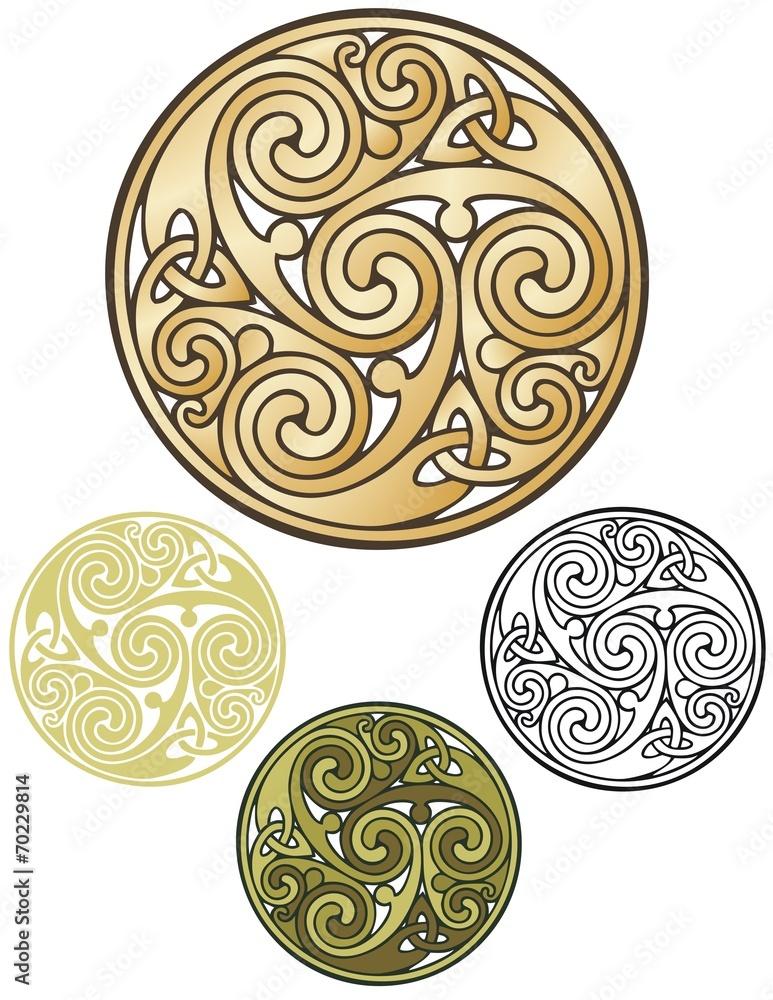 Photo & Art Print Pagan emblem, celtic coin design | EuroPosters