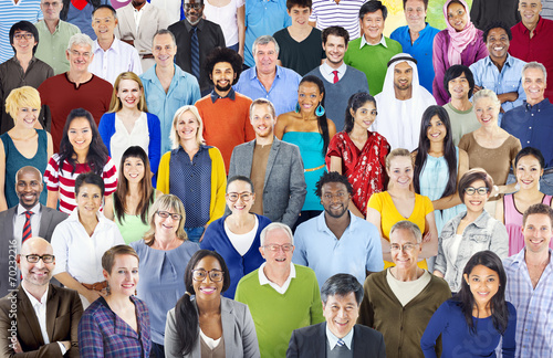 Fototapety, obrazy: Large group of Multiethnic people