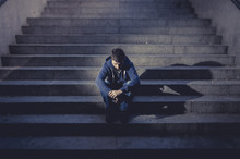 Young Man Lost In Depression S...