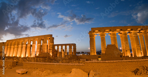 Tuinposter Egypte Temple of Luxor, Egypt at Night