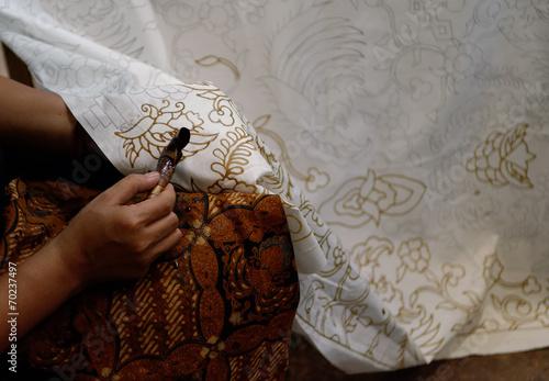 Photo making a batik