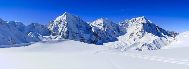 Winter mountains, panorama - Italian Alps