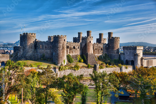 Conwy Castle in Wales, United Kingdom, series of Walesh castles Wallpaper Mural