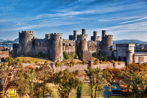 Canvas Print Conwy Castle in Wales, United Kingdom, series of Walesh castles