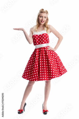 Fotografie, Tablou Frau im Rockebilly Kleid