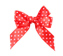 Red Polka Dot Bow Isolated On ...