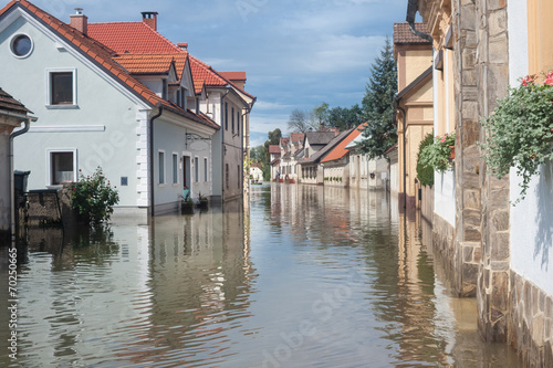 Carta da parati Flooded street