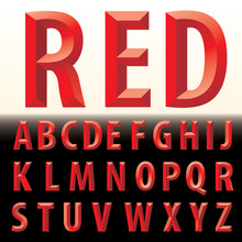 3D Red Letters
