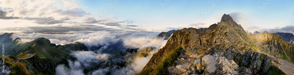 Fototapety, obrazy: Panorama of the surrounding area Swinica, Tatra Mountains