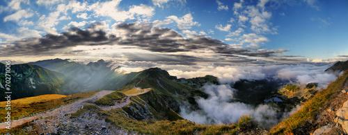 Foto op Plexiglas Panoramafoto s Beautiful view of Tatra mountains, Swinica, Poland