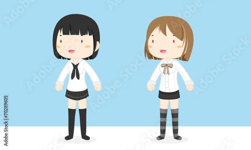 Photo  School girls