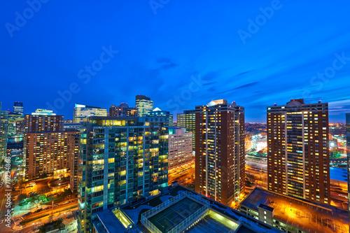 Jersey city at night