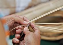 Hand Slicling Dried Bamboo