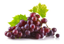 Bunch Of Ripe Red Grapes With ...