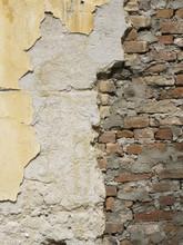 Old Peeled Brick Wall  Divided...