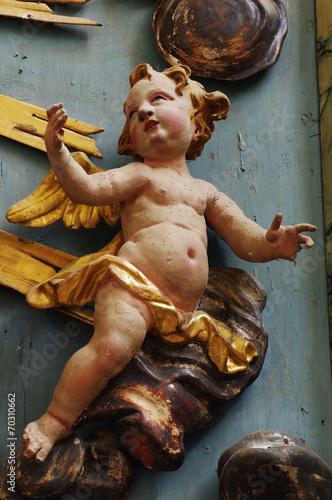 Carta da parati cherub baroque 4