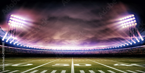 Plakat stadion amerykański