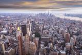 Manhattan przy zachodzie słońca
