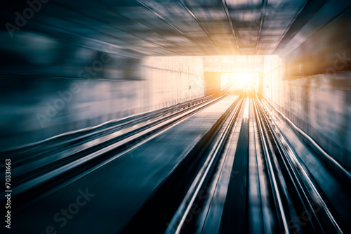 Fotografía  City Metro Rail,motion blur