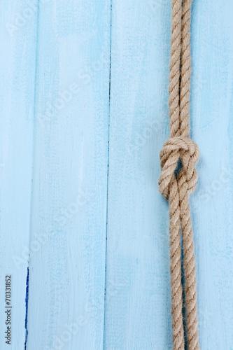Poster Oceanië Marine knot on wooden background
