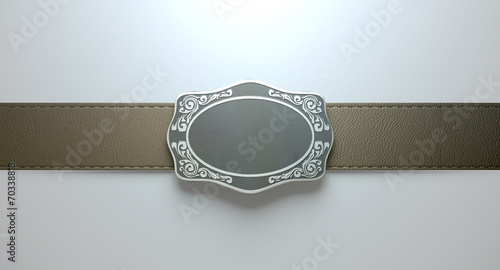 Belt Buckle And Leather Canvas-taulu