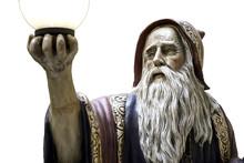 Merlin Statue Speel Medieval Druid