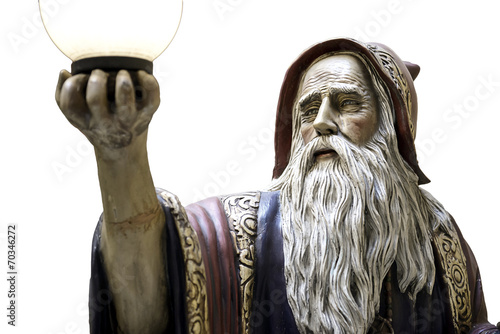 Merlin statue speel medieval druid Canvas Print