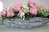 Fototapeta Kwiaty - Ozdobna kompozycja kwiatowa