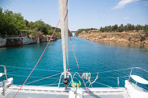 Fotografie, Obraz  Durchfahrt durch den Kanal von Korinth