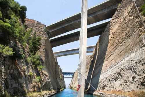 Fotografie, Obraz  Mit dem Segelboot durch den Kanal von Korinth