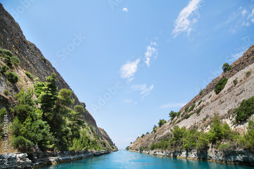 Fototapeta Durchfahrt durch den Kanal von Korinth