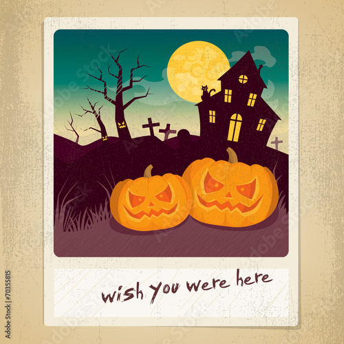Halloween instant photo Canvas Print