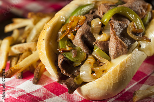 Recess Fitting Snack Homemade Philly Cheesesteak Sandwich