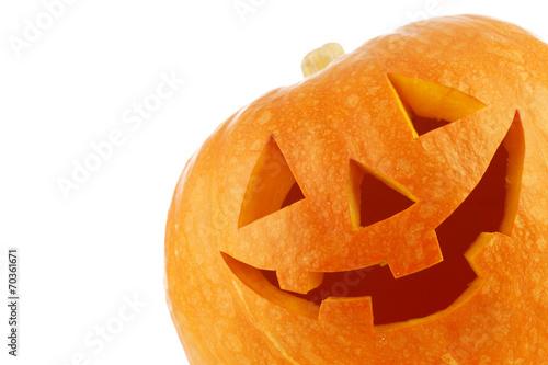 Fotografiet Jack O Lantern halloween pumpkin