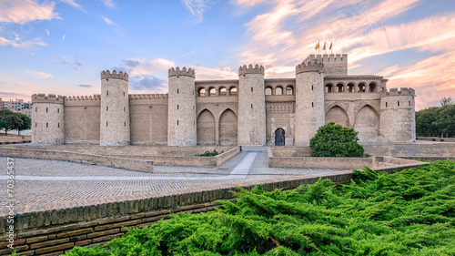 Aljaferia Palace in Zaragoza, Spain