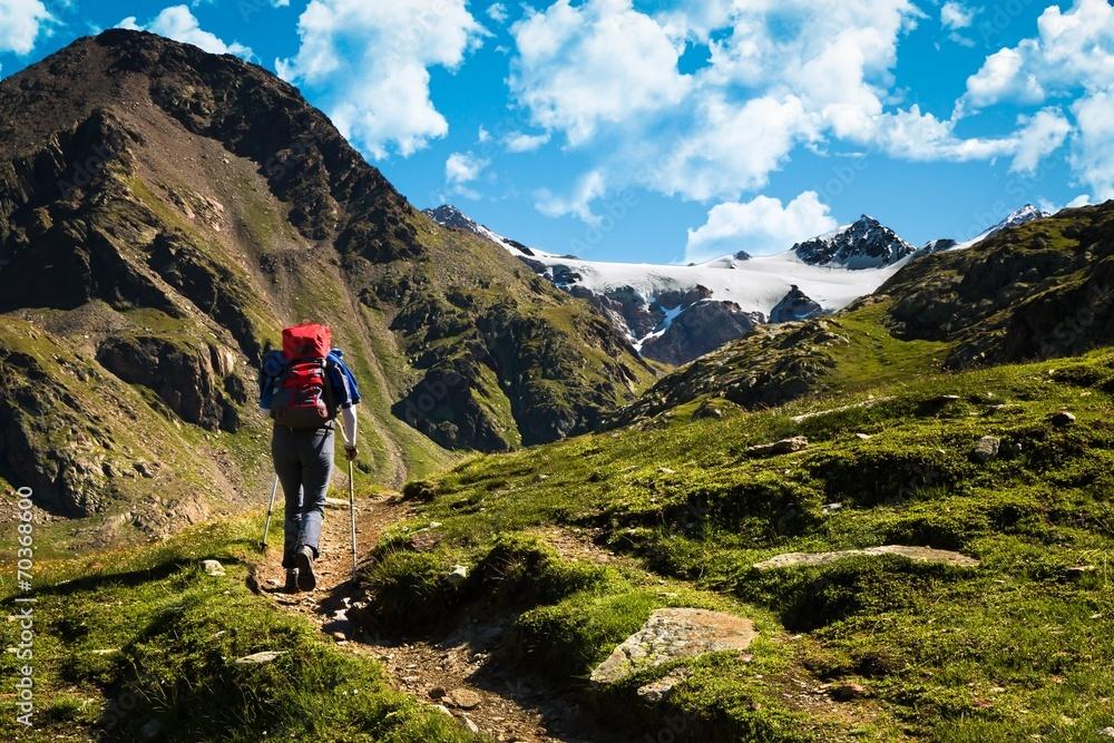 Fototapety, obrazy: trekking in alta montagna