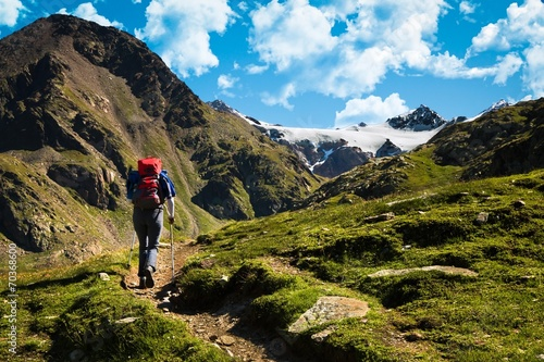 Photo  trekking in alta montagna