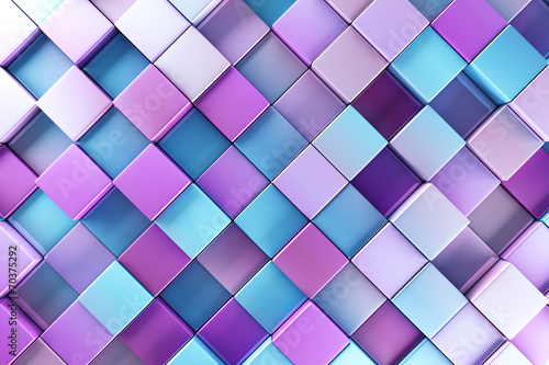 Fototapeta na wymiar Blue and purple blocks abstract background
