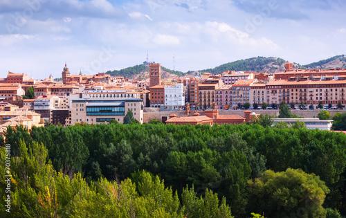 view of Teruel with mudejar tower