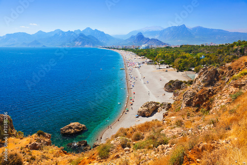 Beach at Antalya Turkey Wallpaper Mural