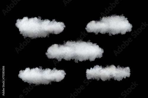 Aluminium Prints Heaven cloud service template, isolated on black