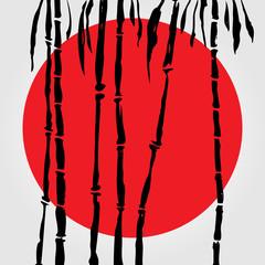 Fototapeta Bambus Bamboo in Chinese style.