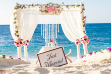 Beach Wedding Set Up, Tropical...