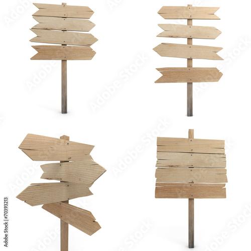 Fotografía  Wooden sign collection
