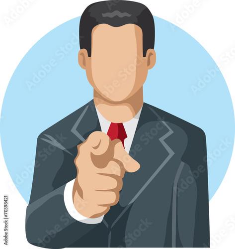 Photo Pointing man icon