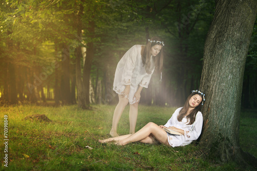 Valokuva  Beautiful girl  astral projection