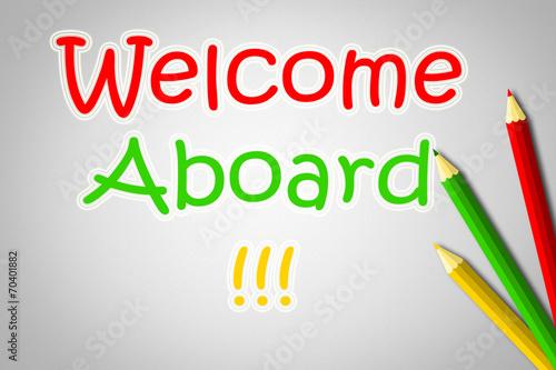 Fotografie, Obraz  Welcome Aboard Concept