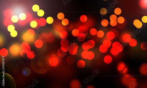 Fotografie, Obraz  lumières abstraites de la nuit